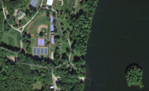birds eye view shot of Camp Cobbossee location